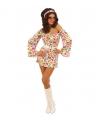 Seventies jurkje met hartjes print